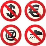 Ne font pas les signes Photo libre de droits