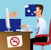 Ne fumez pas dans le bureau ! Image libre de droits