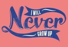 Ne grandissez jamais Photo libre de droits