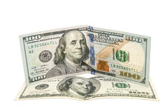 Ne hundred dollars of new and old model Stock Photo