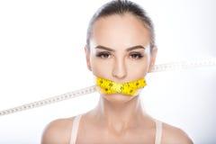 Ne mangez pas pour être mince Images libres de droits