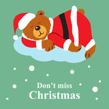 Ne manquez pas la carte de voeux de Noël Photos libres de droits