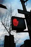 Ne marchent pas le signe Images libres de droits
