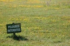 Ne marchez pas sur l'herbe photographie stock libre de droits