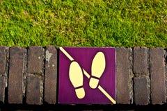 Ne marchez pas sur l'herbe Image libre de droits