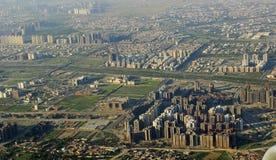 Ne moderne éclatant de construction de grattoir de ciel d'économie Image libre de droits