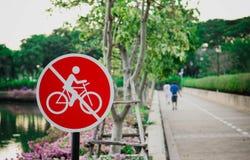 Ne montez pas le signe Photos libres de droits