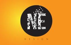 NE N.E. Logo小字母Made的与黑圈子和黄色B的 库存图片
