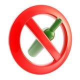 On ne permet pas le boire le signe interdit illustration libre de droits