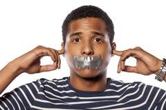 Ne peut pas entendre ne peut pas parler Photographie stock libre de droits