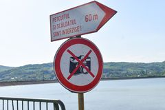 Ne prenez pas le signe de photos photo libre de droits