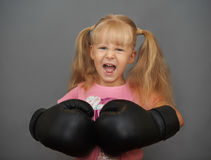 Ne réveillez pas un volcan dans de petites filles douces photographie stock libre de droits