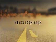 Ne regardez en arrière jamais Photographie stock libre de droits