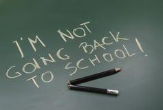 Ne retournant pas à l'école Photos stock