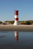 ne s för leuchtturm för D-dstrandhelgoland Royaltyfri Bild