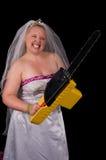 Ne salissez pas avec la mariée photographie stock