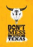Ne salissez pas avec Texas Quote Calibre créatif de inspiration d'affiche de motivation États Pride Vector Typography Banner illustration libre de droits