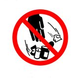 Ne salissez pas le signe Déchets de jet du ` t de Don au sol illustration libre de droits