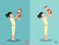 Ne secouez jamais un bébé illustration stock
