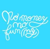 Ne signez aucun argent pas dr?le, ic?ne pour votre Web, label, ic?ne, conception dynamique ?l?ments tir?s par la main d'art Vecte illustration libre de droits