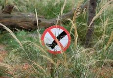 Ne signez aucune infraction Image stock