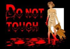 Ne touchez pas Images libres de droits