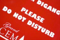 Ne touchez pas au signe photo libre de droits