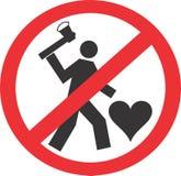 Ne tuez pas l'amour Photo libre de droits