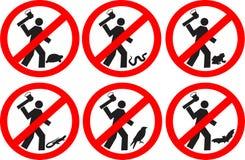 Ne tuez pas les animaux Images libres de droits