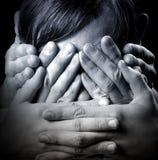 Ne voir l'aucun mal, n'entendez aucun mal, ne parlez aucun mal Photo libre de droits