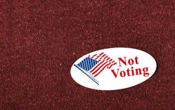Ne votant pas Photographie stock libre de droits