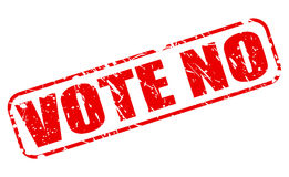 Ne votez aucun texte rouge de timbre Photos libres de droits