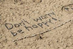 Ne vous inquiétez pas soit heureux Image stock