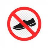 Ne vous tenez pas ici signent l'icône illustration stock