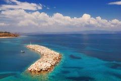 Nea Fokea码头, Halkidiki 库存图片
