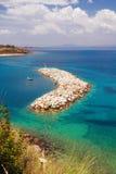 Nea Fokea pier, Halkidiki Stock Photography