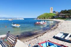 Nea Fokea Sommerurlaubsort in Griechenland Stockbild
