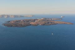 Nea Kameni em Santorini Imagem de Stock