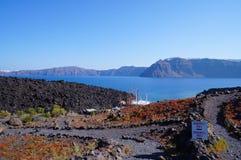 Nea Kameni island,near Santorini,Greece. Stock Image