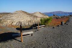 Nea Kameni island near Santorini in Greece Royalty Free Stock Images