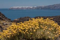 Nea Kameni Island Oia Santorini Royalty Free Stock Photography