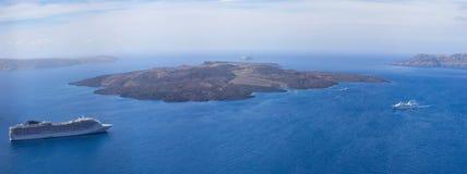 Nea Kameni island Royalty Free Stock Photo