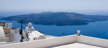 Nea Kameni, Santorini, Grecia Imagenes de archivo