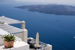 Nea Kameni, Santorini, Greece imagem de stock royalty free