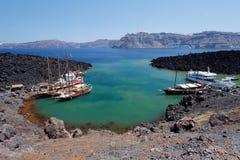 Nea Kameni Santorini Greece Stock Image