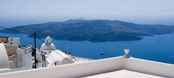 Nea Kameni, Santorini, Griekenland Stock Afbeeldingen
