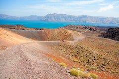 Nea Kameni volcanic island, Santorini Royalty Free Stock Image