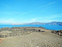 Nea Kameni Volcano Foto de Stock Royalty Free