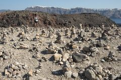 Nea Kameni Volcano Imagen de archivo libre de regalías