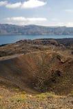 Nea Kameni Vulkan Santorini Stockfoto